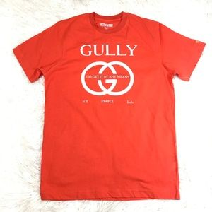 STAPLE PIGEON GULLY S/S SHIRT ORANGE SIZE MED
